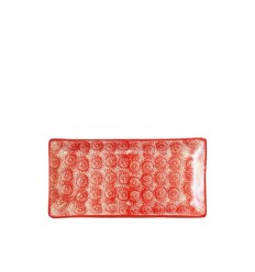 Bandeja roja, 30,5 x 15 cm