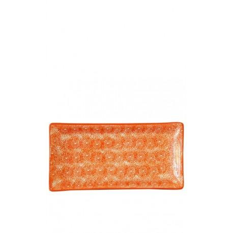 Bandeja naranja, 30,5 x 15 cm