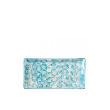 Bandeja azul celeste, 30,5 x 15 cm