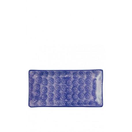Bandeja azul oscuro, 30,5 x 15 cm