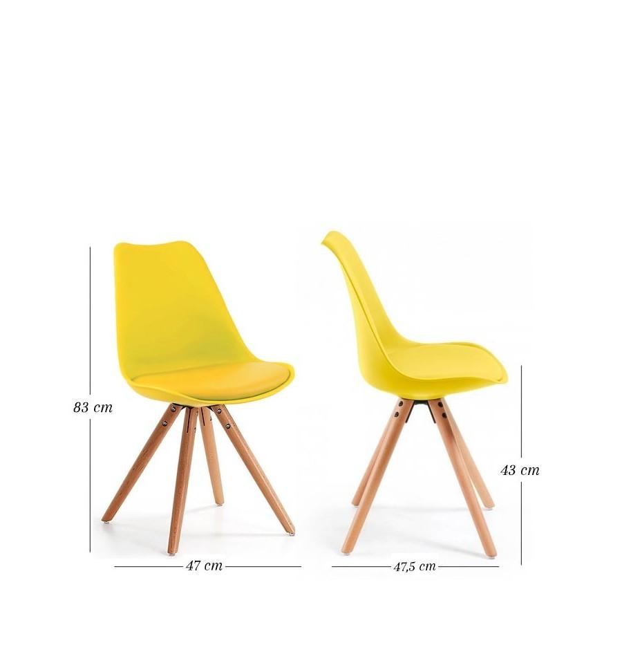 Oferta silla de dise o n rdico amarilla env o gratis for Sillas amarillas
