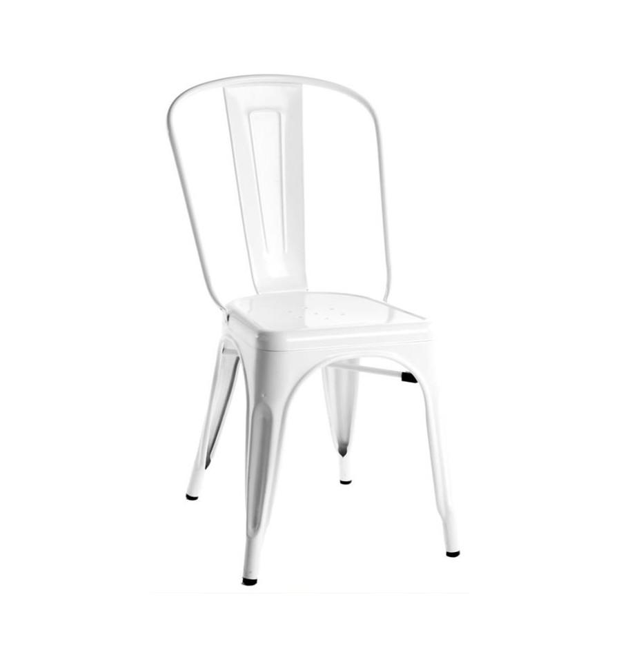 Oferta silla vintage blanca industrial tolix descuentos for Sillas blancas vintage