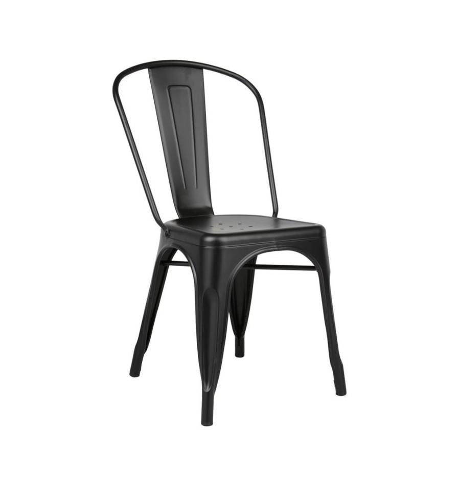 Oferta silla met lica negra tolix grandes descuentos en iconscorner - Sillas negras ...