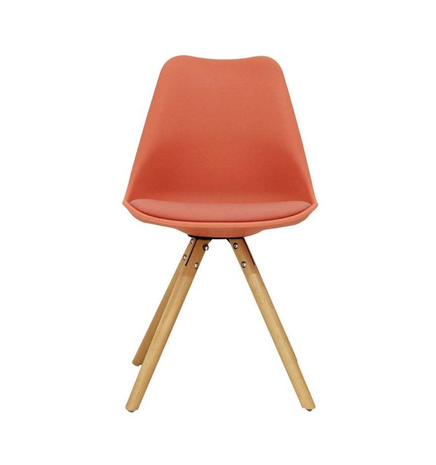 Oferta silla de dise o color coral por solo 37 99 for Sillas diseno oferta