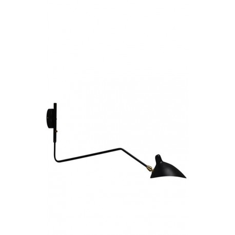 Aplique de Pared Serge Mouille Negro MSC-R1C Rotating Sconce Tribute