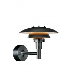 Paul Henningsen PH3-2 1/2 Wall lamp negra