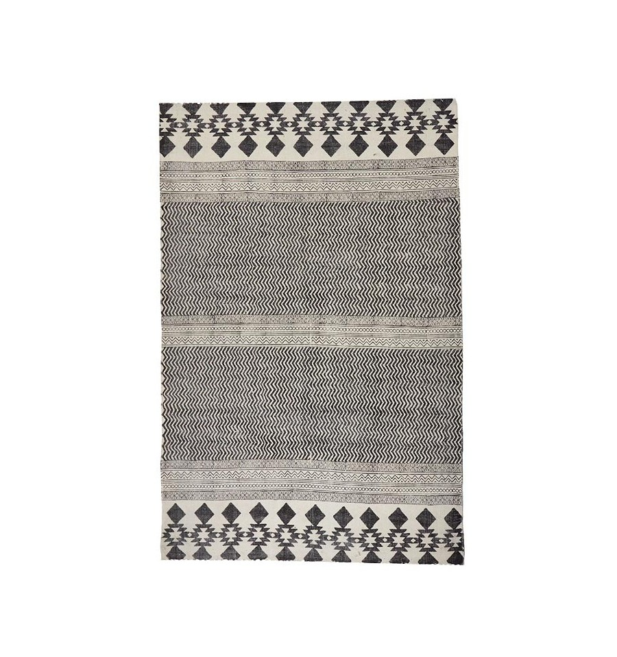 Oferta alfombra tnica de algod n caluse 160x230 env o gratis - Alfombras nordicas ...