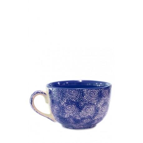 Taza azul oscuro, 12,5 x 8 cm