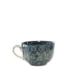Vajilla de cerámica, taza verde oscuro, 12,5 x 8 cm