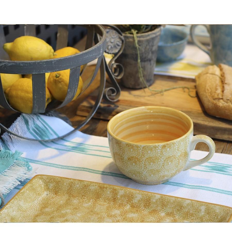 Vajilla de cer mica taza mostaza 12 5 x 8 cm iconscorner for Vajilla ceramica