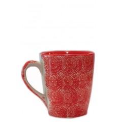 Vajilla de cerámica, taza roja 10 x 11,5 cm