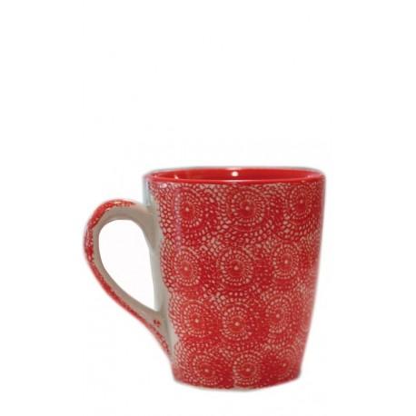 Taza roja, 10 x 11,5 cm