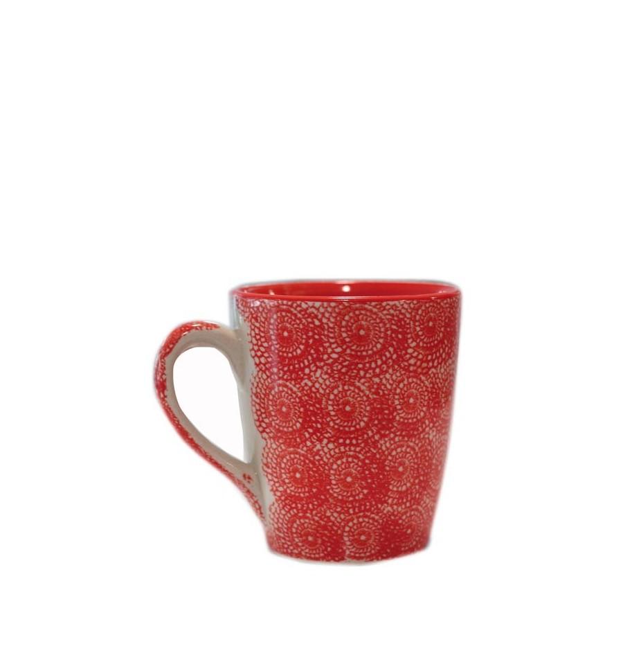 vajilla de cer mica taza roja 10 x 11 5 cm iconscorner. Black Bedroom Furniture Sets. Home Design Ideas