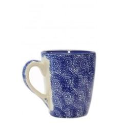 Taza azul oscuro, 10 x 11,5 cm