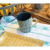 Vajilla de cerámica, taza verde oscuro 10 x 11,5 cm Cerámica