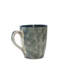 Vajilla de cerámica, taza verde oscuro 10 x 11,5 cm