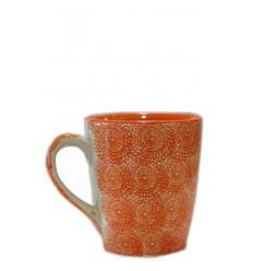 Vajilla de cerámica, taza naranja 10 x 11,5 cm