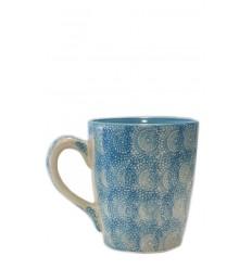 Taza azul celeste, 10 x 11,5 cm