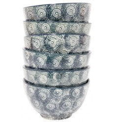 Set de 6 boles verde oscuro, 14 x 8 cm