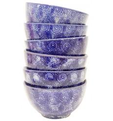 Set de 6 boles azul oscuro, 14 x 8 cm