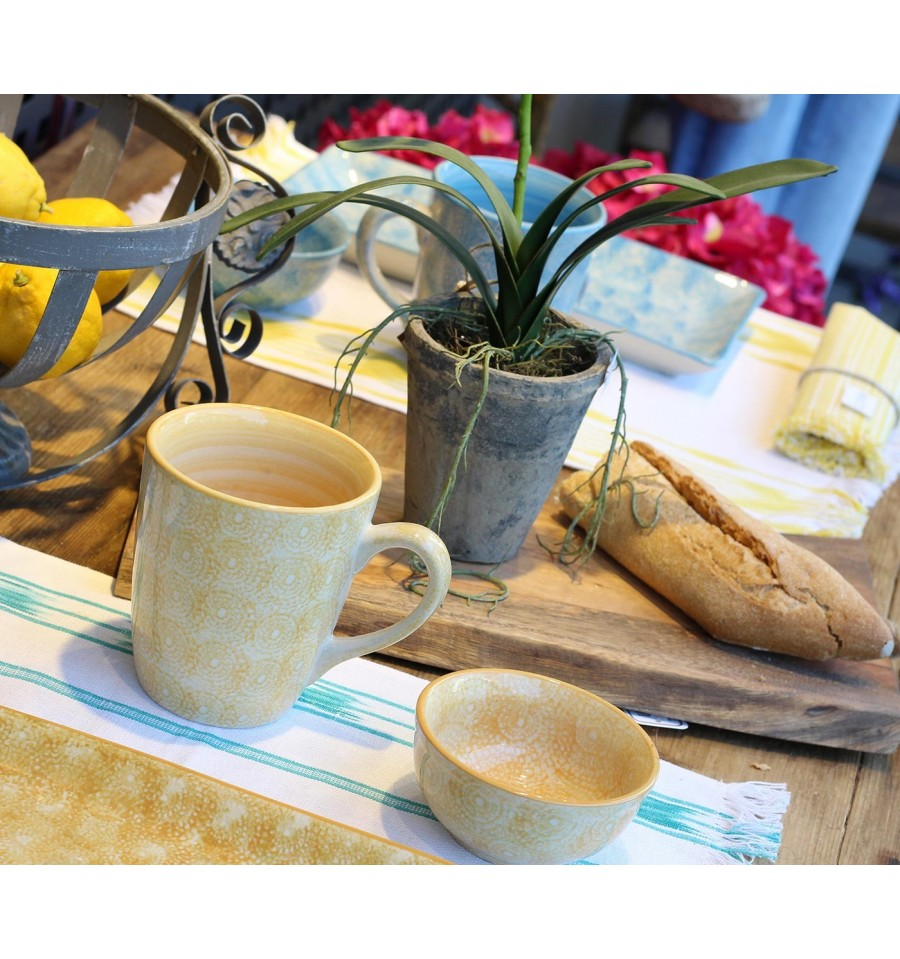 Vajilla de cer mica taza mostaza 10 x 11 5 cm iconscorner for Vajilla ceramica