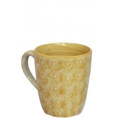 Vajilla de cerámica, taza mostaza 10 x 11,5 cm
