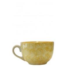 Vajilla de cerámica, taza mostaza 12,5 x 8 cm
