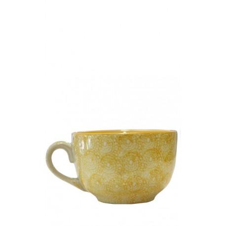 Vajilla de cerámica, taza mostaza 12,5 x 8 cm Cerámica