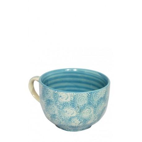 Vajilla de cerámica, taza azul celeste, 12,5 x 8 Cerámica