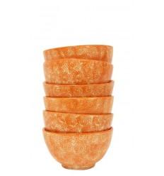 Set de 6 boles naranja, 10,5 x 5 cm