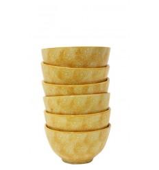 Set de 6 boles mostaza, 10,5 x 5 cm