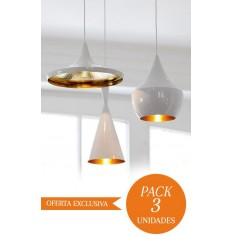 CONJUNTO 3 Lámparas en suspension BEAT Style Alumi