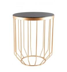 Mesa dorada y marmol negro Solide