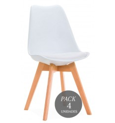 SILLA KANDEM CROSS BLANCA PACK PROMO TABLA CORTAR