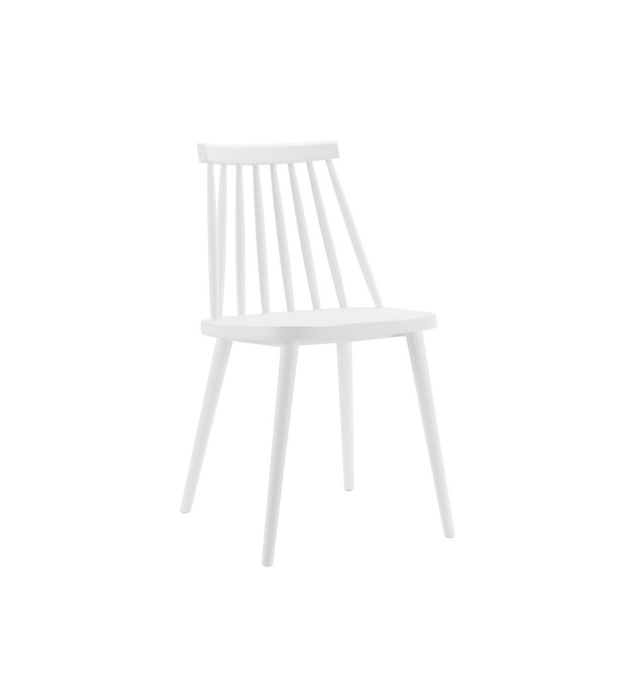 Pack 2 sillas de dise o n rdicas blancas estilo windsor for Sillas jardin blancas