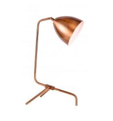 Lámpara de mesa de latón dorado