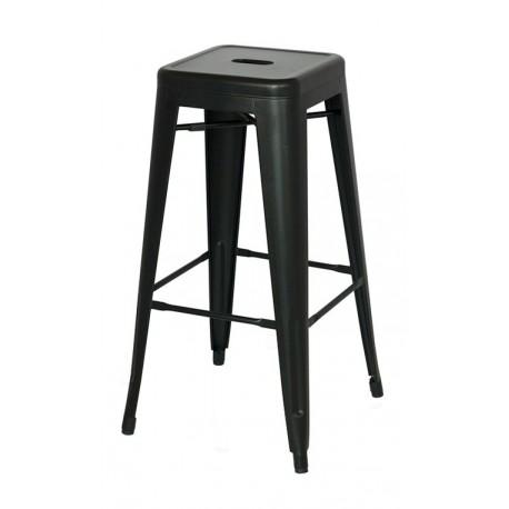 Taburete Metálico Bistro Bar Stool Negro Taburetes de diseño 34,99 €