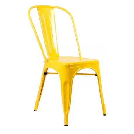 Silla met lica amarilla vintage tolix oferta online en for Sillas amarillas