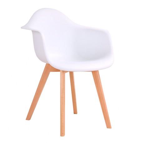 Nuevo silla de dise o blanca de estilo n rdico env o for Sillas de diseno online