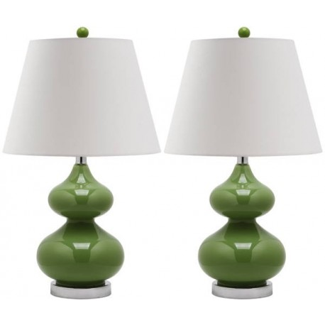 Lampara Mesa Gabriel Glass Table Lamp ( Set of 2 )
