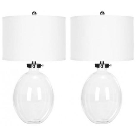 Lampara Mesa Alaina Glass Table Lamp ( Set of 2 )