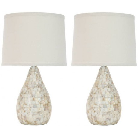 Lampara Mesa Samantha Shell Table Lamp ( Set of 2 )