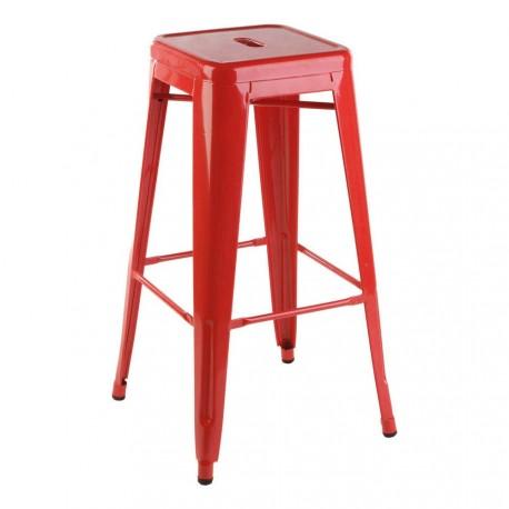 Taburete Metálico Bistro Bar Stool Rojo Taburetes de diseño 34,99 €
