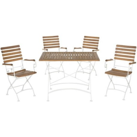 Set De Jardín Keira Outdoor 5-Piece Dining Set