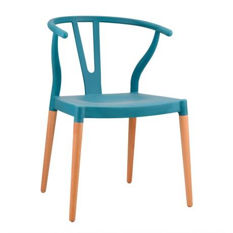 Silla de Diseño Nórdico Wish Color CH24 Tribute Azul