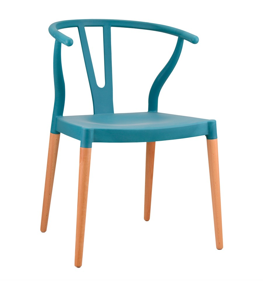 pack 2 sillas de dise o azules inspiraci n wishbone chair