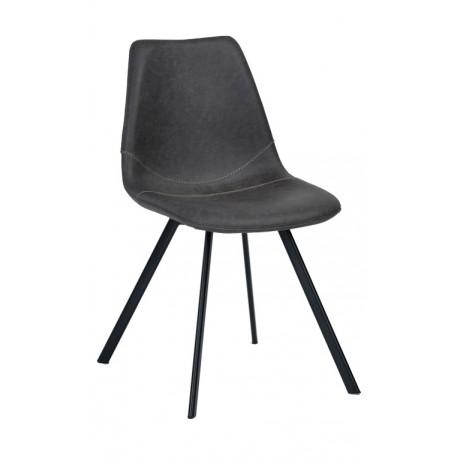 Silla de polipiel negra vintage novedad env o gratis for Sillas negras tapizadas