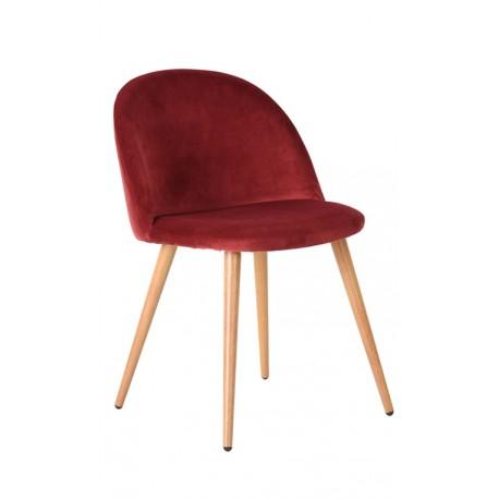 Silla de Terciopelo Rojo Vintage Piaf