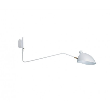 Aplique de Pared Serge Mouille Blanco MSC-R1C Rotating Sconce Tribute Dúo