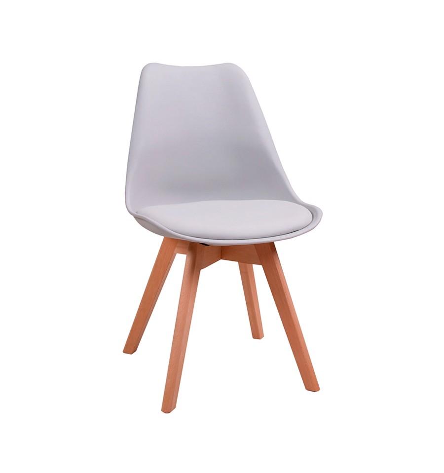 Silla de dise o n rdica gris env o gratis for Diseno de sillas modernas